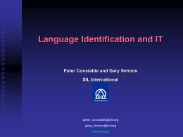 Language Identification and IT