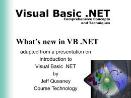 VS .NET Seminar Presentation