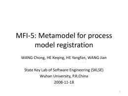 MFI-5: Metamodel for process model registration
