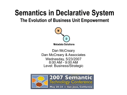 Semantics in Declarative System - Kelly