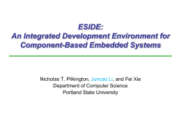 ESIDE: An Integrated Development Environment for …