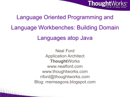 Building Domain Languages atop Java