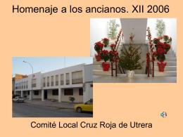 Homenaje a los ancianos. XII 2006 - Cruz Roja