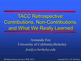 Armando's Interview Talk - University of California, Berkeley