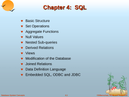 Chapter 4: SQL - Vrije Universiteit Brussel