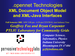 XML DOM and Java Fall 2001