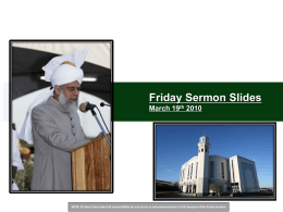 Friday Sermon Slides July 31, 2009