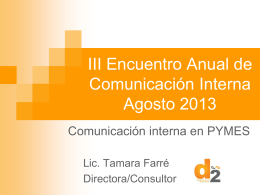 Diapositiva 1 - Comunicacion Interna 2015