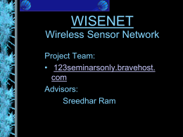 WISENET Wireless Sensor Network