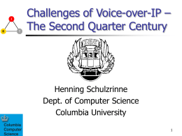 Challenges of Voice-over-IP – The Second Quarter Century