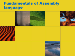 Fundamentals of Assembly language - UW-W