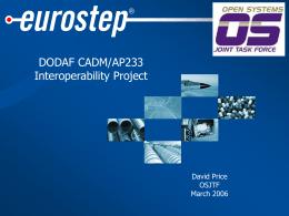 DoDAF CADM ISO AP233 OMG UML Converter Interim …