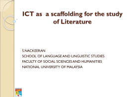 ICT as a scaffolding for the study of Literature