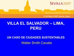 VILLA EL SALVADOR – LIMA, PERU UN CASO DE …