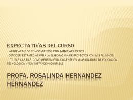 PROFA. ROSALINDA HERNANDEZ HERNANDEZ
