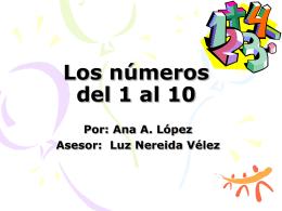 Los numeros del 1 al 10