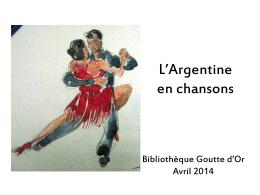 L'Argentine en chansons