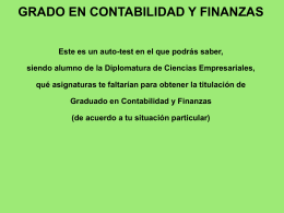 GRADO EN CONTABILIDAD Y FINANZAS