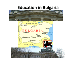 Education in Bulgaria
