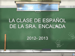 CLASE DE LA SRA. ENCALADA