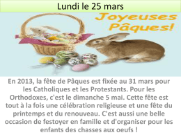 Lundi le 25 mars - Klein Independent School District