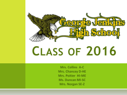 Class of 2015 - GJHS | George Jenkins High School Website