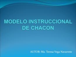 MODELO INSTRUCCIONAL DE CHACON