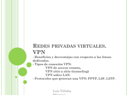 Redes privadas virtuales. VPN