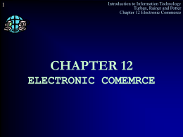 CHAPER 1 INTRODUCTION : BUSINESS AND …