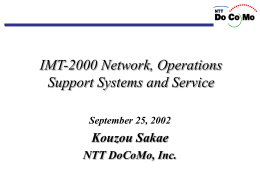 IMT-2000 NW, OSS & Service