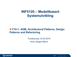 INF5120 – Modellering med objekter