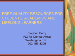 FREE QUALITY RESOURCES FOR STUDENTS, ACADEMICS …