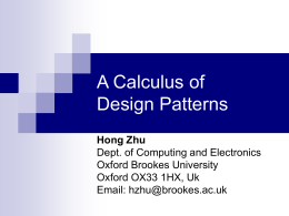 A Calculus of Design Patterns