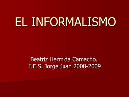 EL INFORMALISMO - IES JORGE JUAN / San Fernando | …