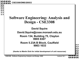 Software Engineering: Analysis and Design