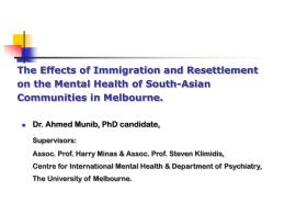Resettlement model