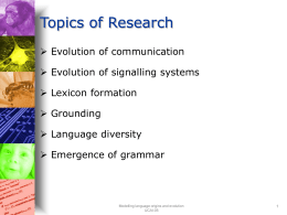 Topics of Research - Tilburg University