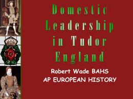 Religious Issues -- Henry VIII vs. Elizabeth I