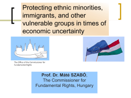 Protection of vulnerable groups in Hungary and Central …