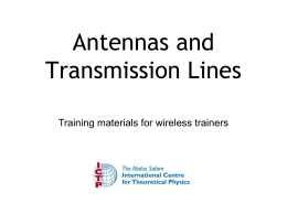 Antennas and Transmission Lines