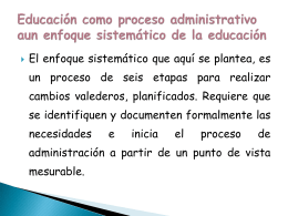 Educacion como proceso educativo