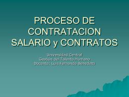 PROCESO DE CONTRATACION SALARIO