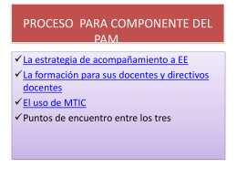 PROCESO SE PARA COMPONENTE DEL PAM