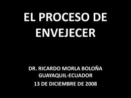 EL PROCESO DEL ENVEJECIMIENTO