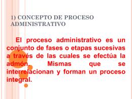 1) CONCEPTO DE PROCESO ADMINISTRATIVO