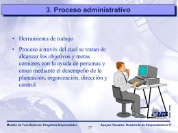 Proceso administrativo - Plataforma Educativa USS