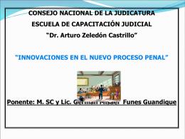Innovaciones del Proceso penal