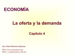 La oferta y la demanda - La Web de Cesar Octavio Contreras