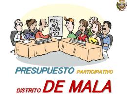 PRESUPUESTO PARTICIPATIVO BASADO EN RESULTADOS