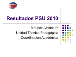 Resultados PSU 2010 - Instituto La Salle